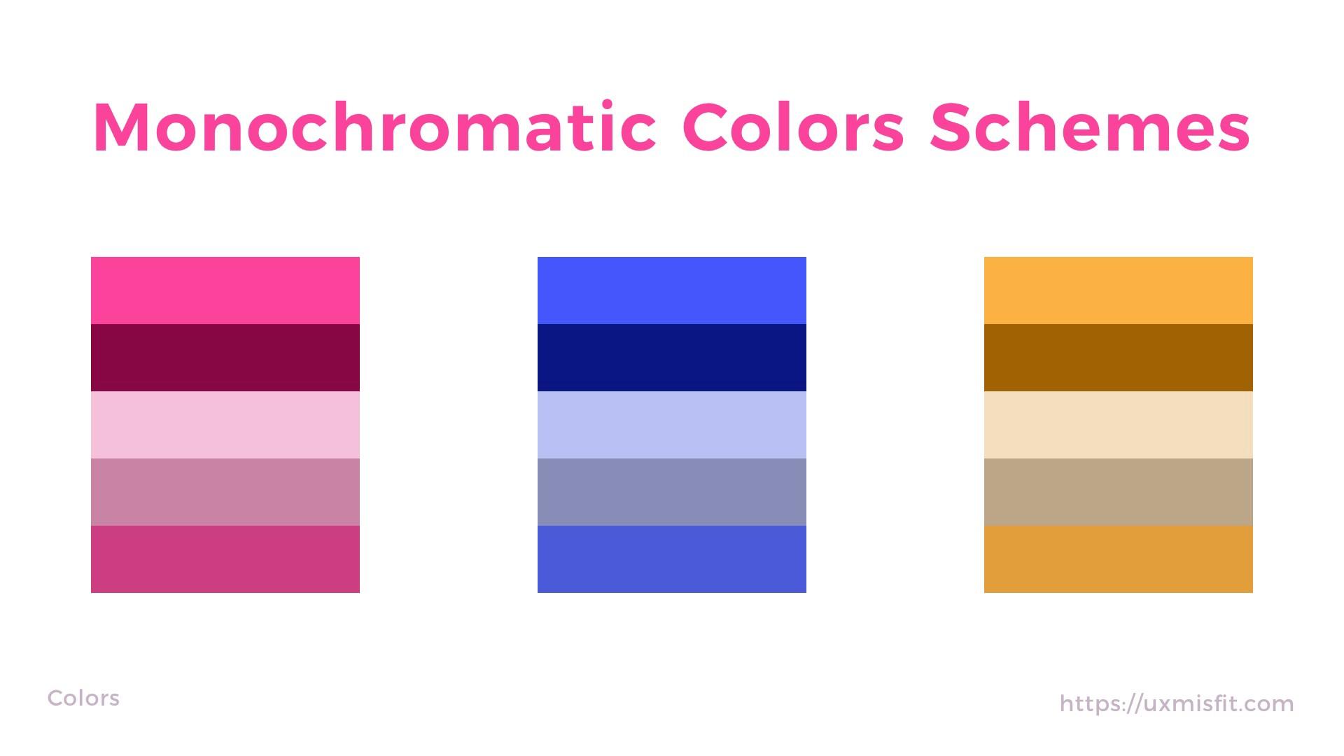 单色配色 Monochromatic color