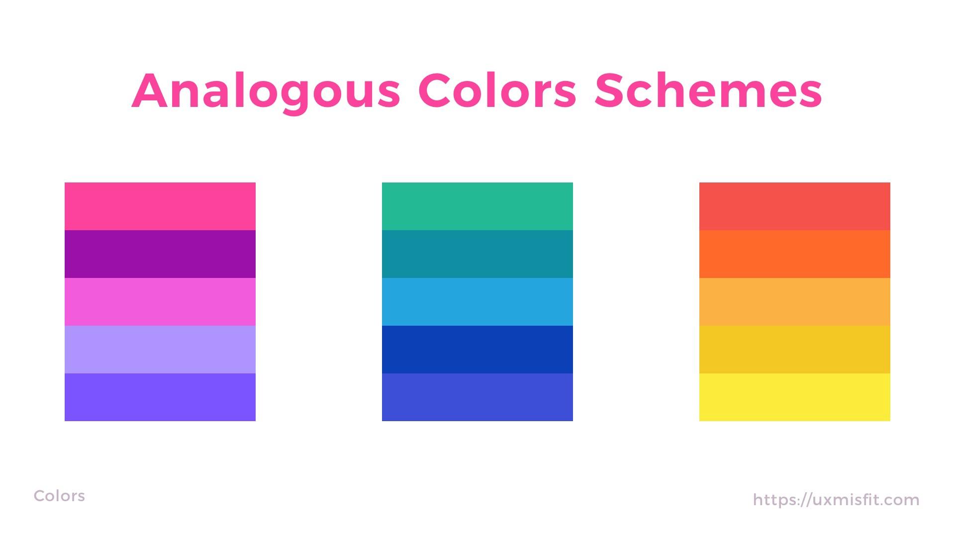 近似色配色法 Analogous colors