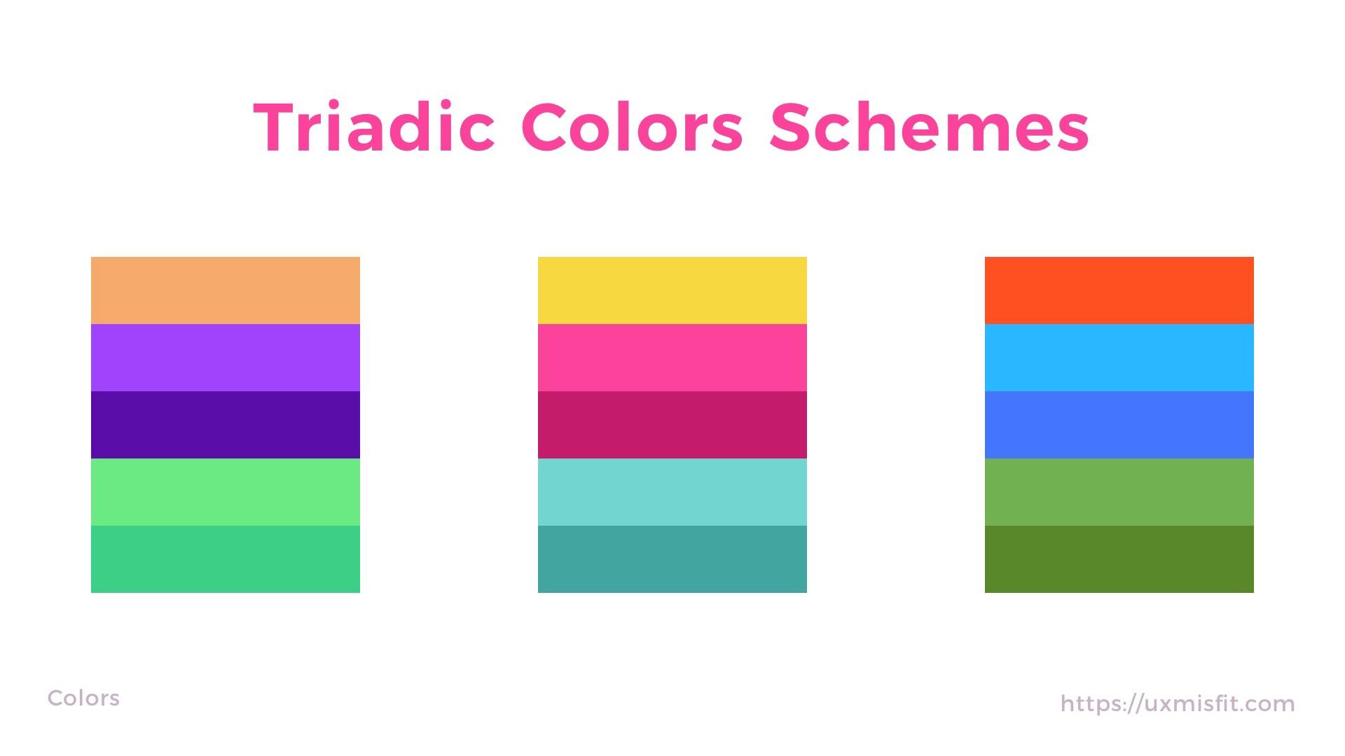 三等分配色法 Triadic colors