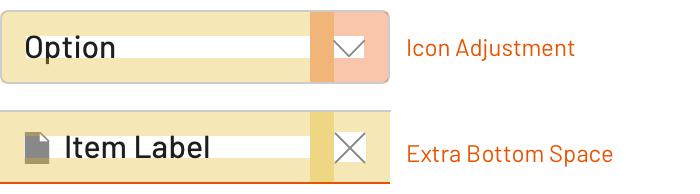 覆盖默认间距模型以考虑边界和相邻元素