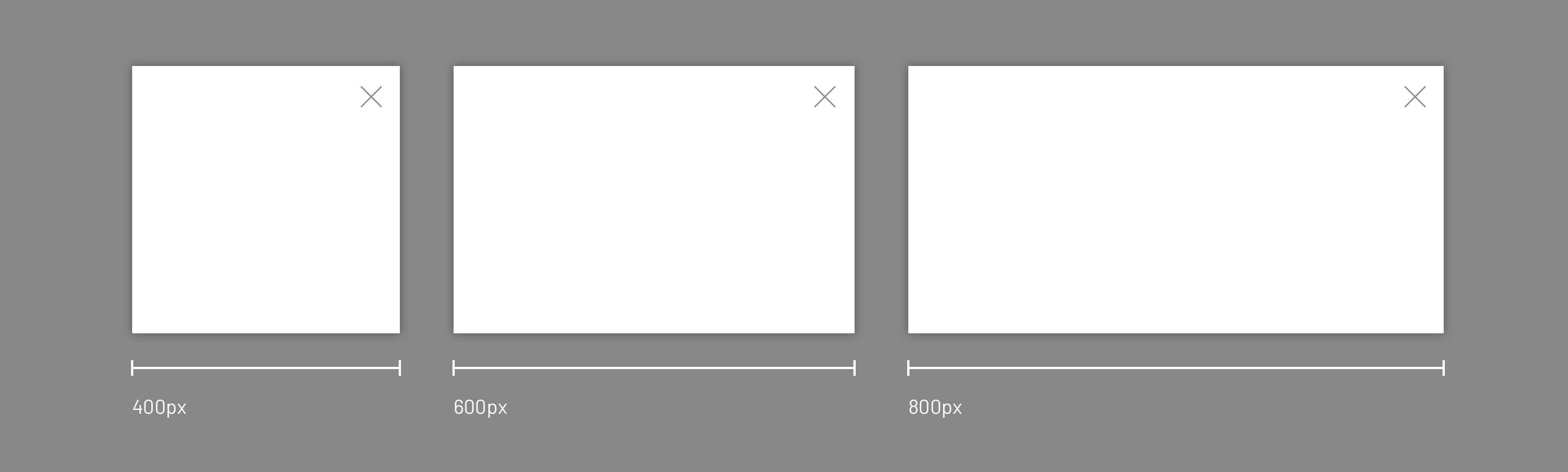 提供三种不同宽度的模式窗口